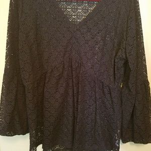 Tops - Plus size lace shirt